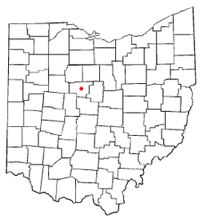 Map showing Marion City, Ohio