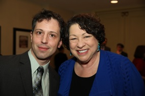 Peter Wagner with Supreme Court Justice Sonia Sotomayor at a reception prior to the David Carliner Award