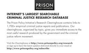 front of Prison Policy Initiative Research clearinghouse postcard