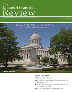 cover of january 2012 missouri municipal review magazine