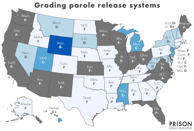 Grading the parole release systems of all 50 states | Prison