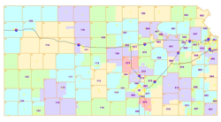 Kansas State House redistricting map