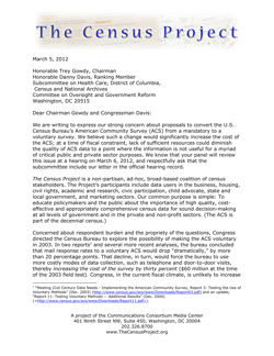 Census Project ACT letter