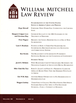 William Mitchell Law Review, Volume 38, Number 4