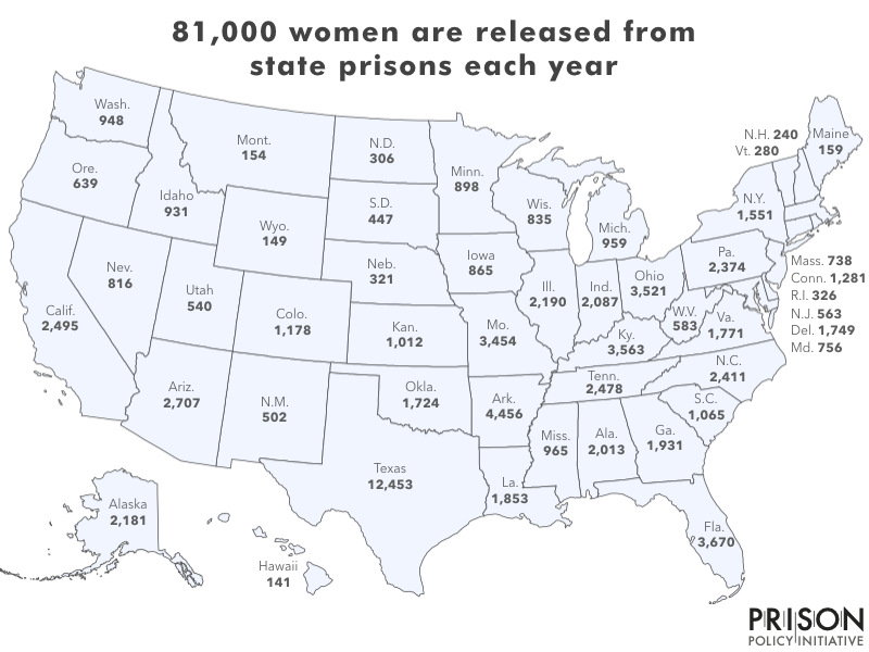 Who's helping the 1.9 million women released from prisons ... on california prison inmates, california state county map, california state fair map, california state capitol map, missouri prison map, west virginia prison map, california state department of corrections, alabama prison map, california state hospital police, florida prison map, california state fire map, california state id, nys prison map, california state natural resources, connecticut prison map, minnesota prison map, california state highway 15, california state route 20, california state wrestling tournament, california state pretty map,